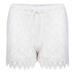 ibiza bohemain kanten short  -off white