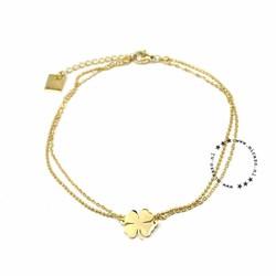 ZAG Bijoux jewellery  ZAG Bijoux enkelbandje - klaver goud