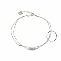ZAG Bijoux jewellery  ZAG Bijoux enkelbandje - veer/zilver