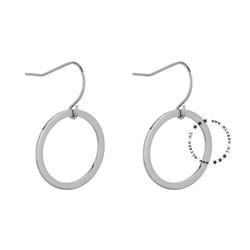 ZAG Bijoux jewellery  ZAG Bijoux roundie oorbel  - zilver