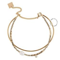 ZAG Bijoux jewellery  ZAG Bijoux  dubbele armband - Beads mix - Goud