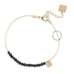 ZAG Bijoux  ZAG Bijoux armband  - Beads - Zwart / Goud