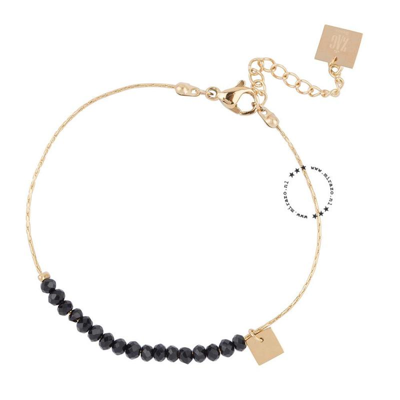 ZAG Bijoux  ZAG Bijoux armband  - beads - Zwart / gold