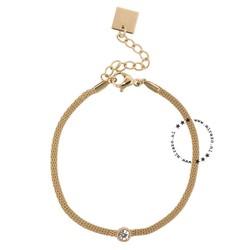 ZAG Bijoux  ZAG Bijoux gouden armband met steentje
