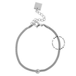 ZAG Bijoux  ZAG Bijoux zilveren armband met steentje