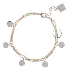 ZAG Bijoux  ZAG Bijoux double coins bracelet - Goud & Silver