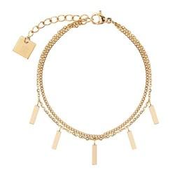 ZAG Bijoux  ZAG Bijoux double staafjes bracelet - Goud