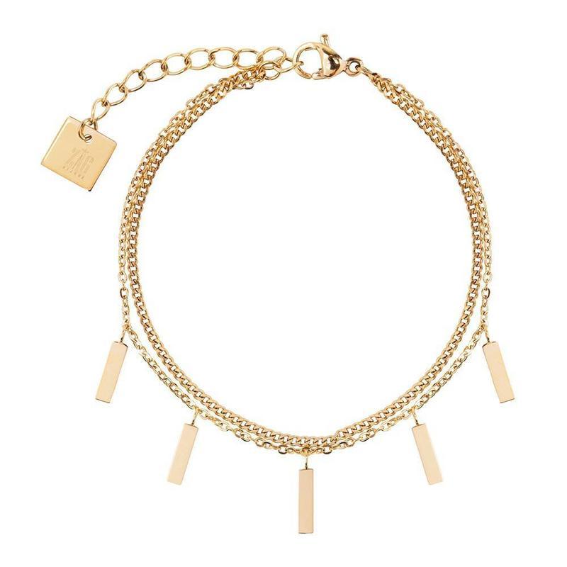 ZAG Bijoux  Zag Bijoux double staafjes bracelet-gold