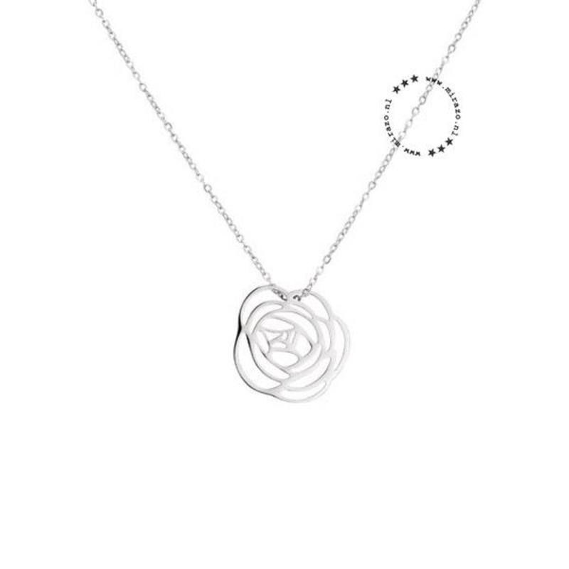 ZAG Bijoux  ZAG Bijoux Rose Necklace - Silver