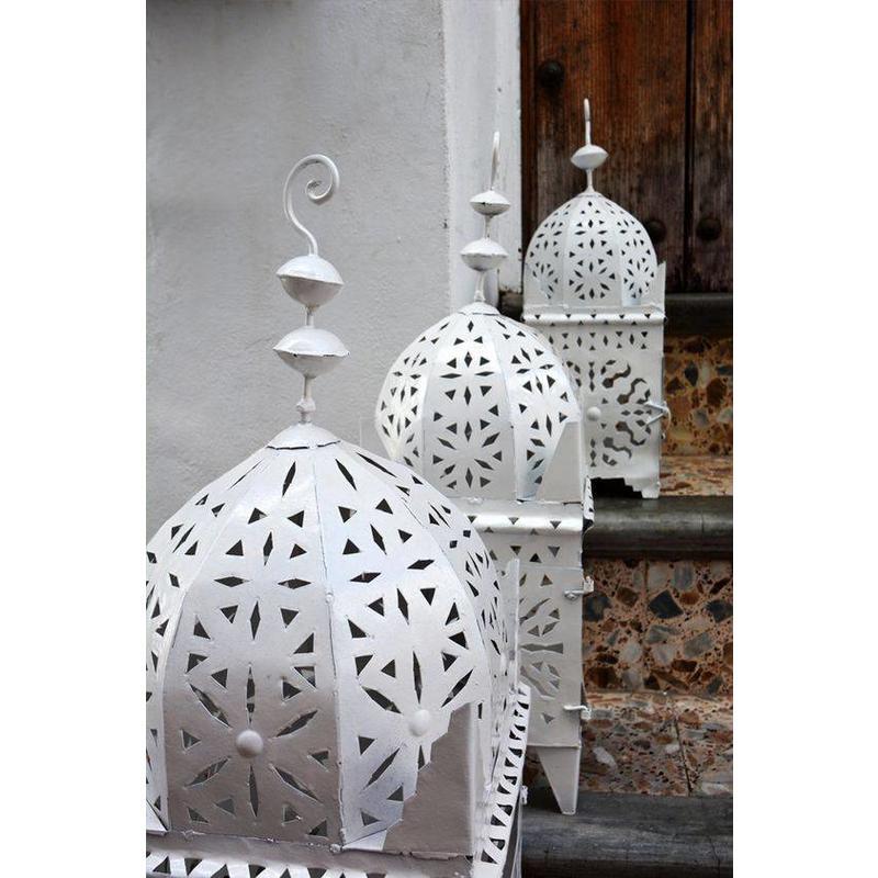 marokkaanse hand made  lantaarn xl-white