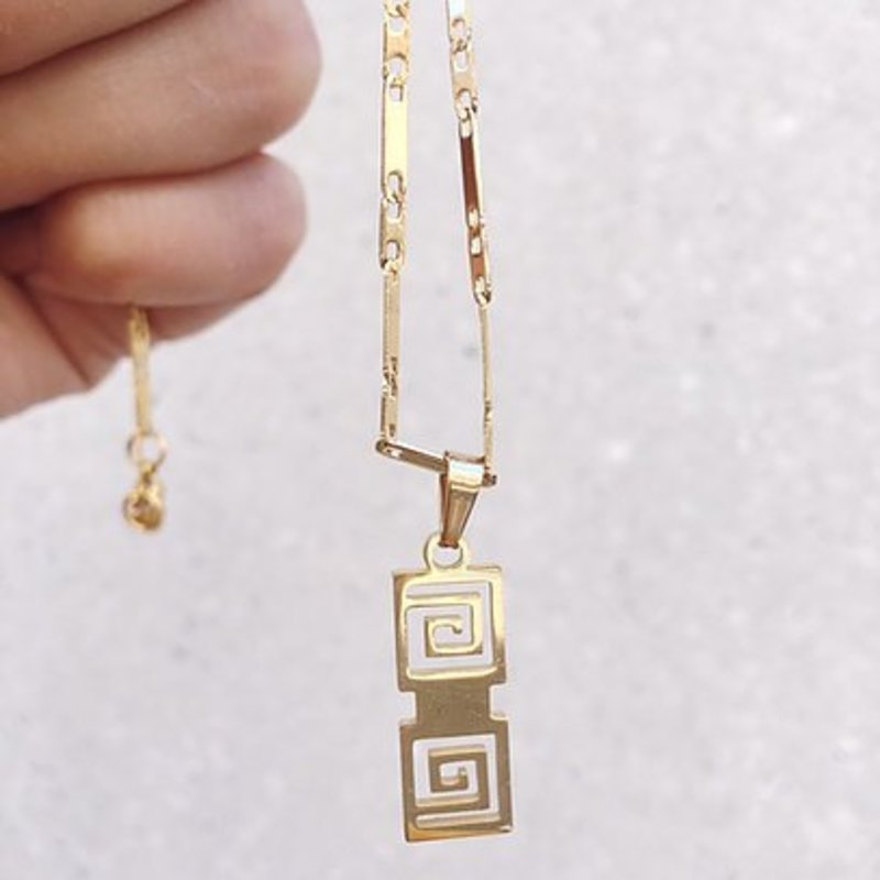 Rocky Rosa Rocky Rosa  take me to greece necklace - goud