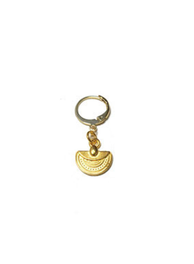 2 the moon and back girlpower earrings-gold