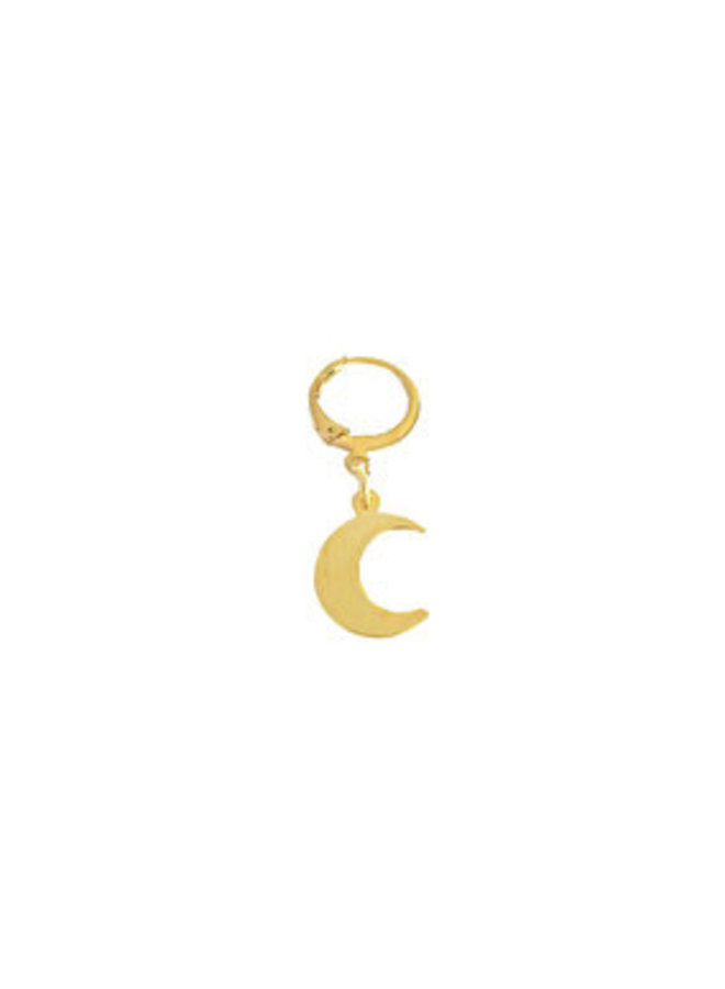 2the moon and back  little moon earring-gold