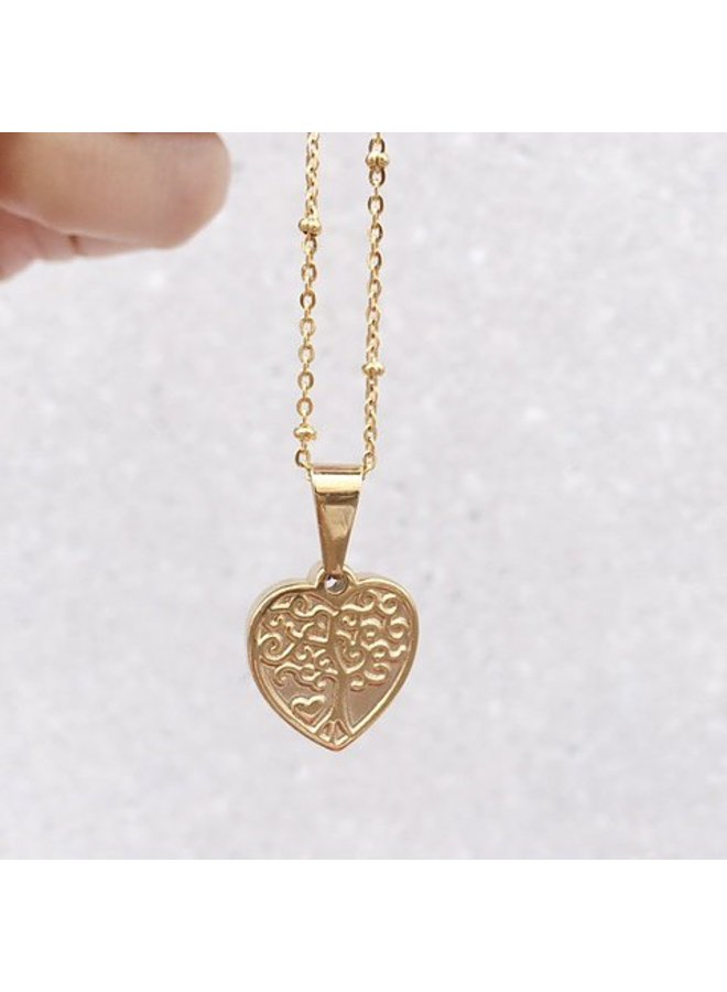 Rocky Rosa family forever necklace -gold
