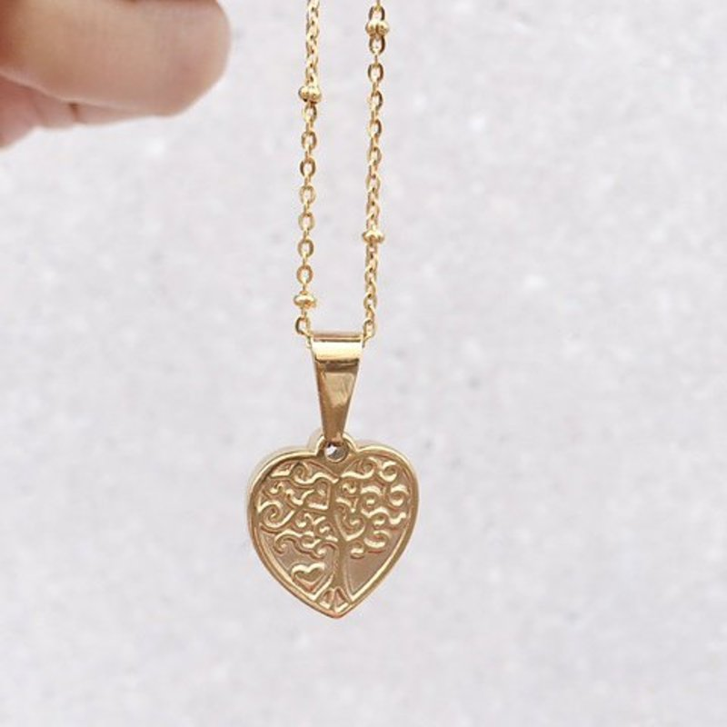 Rocky Rosa Rocky Rosa family forever necklace - goud