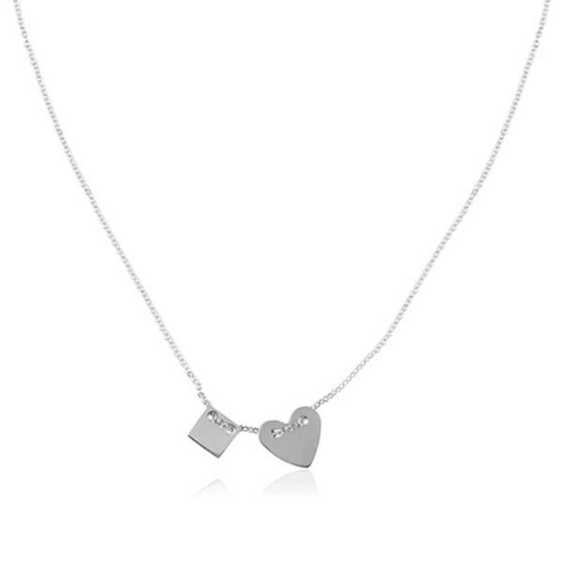 ZAG Bijoux jewellery  ZAG ketting hartje zilver necklace
