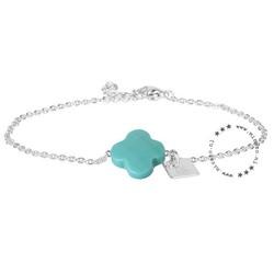 ZAG Bijoux jewellery ZAG armband klaver turquoise zilver