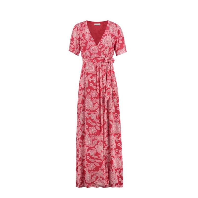 Freebird Freebird Lillliana Wrap maxi dress  - rood