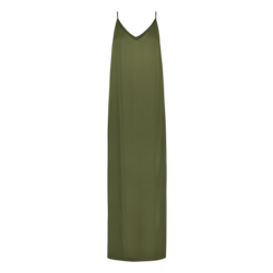 Freebird Freebird Chrissy  maxi dress  - army