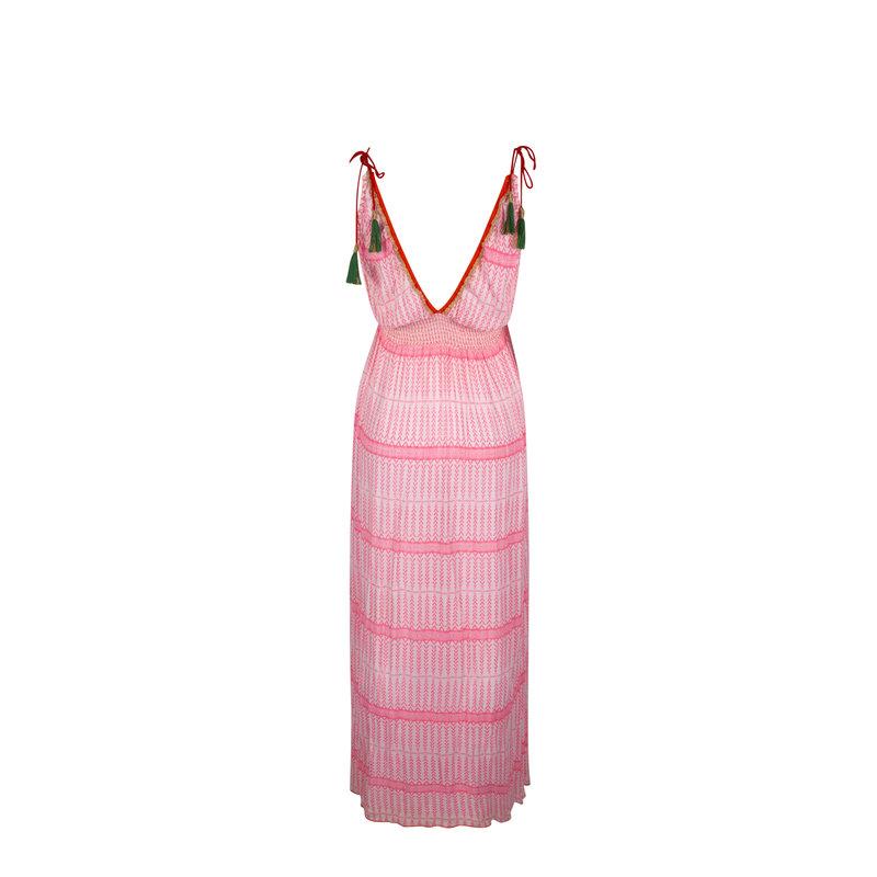 Place du soleil Place du Soleil Boho Ibiza dress - Koraal