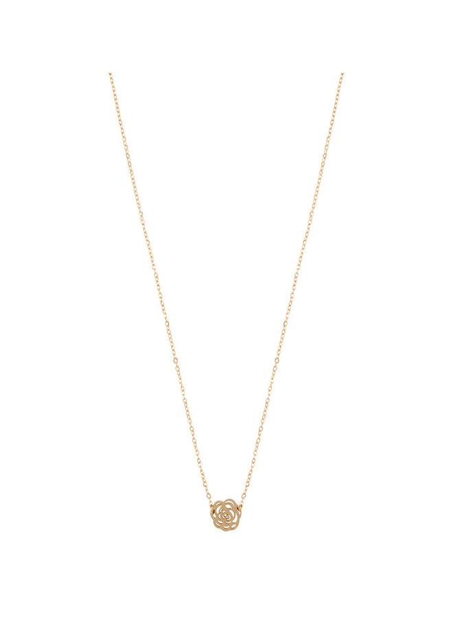 ZAG Bijoux Rose Necklace - gold