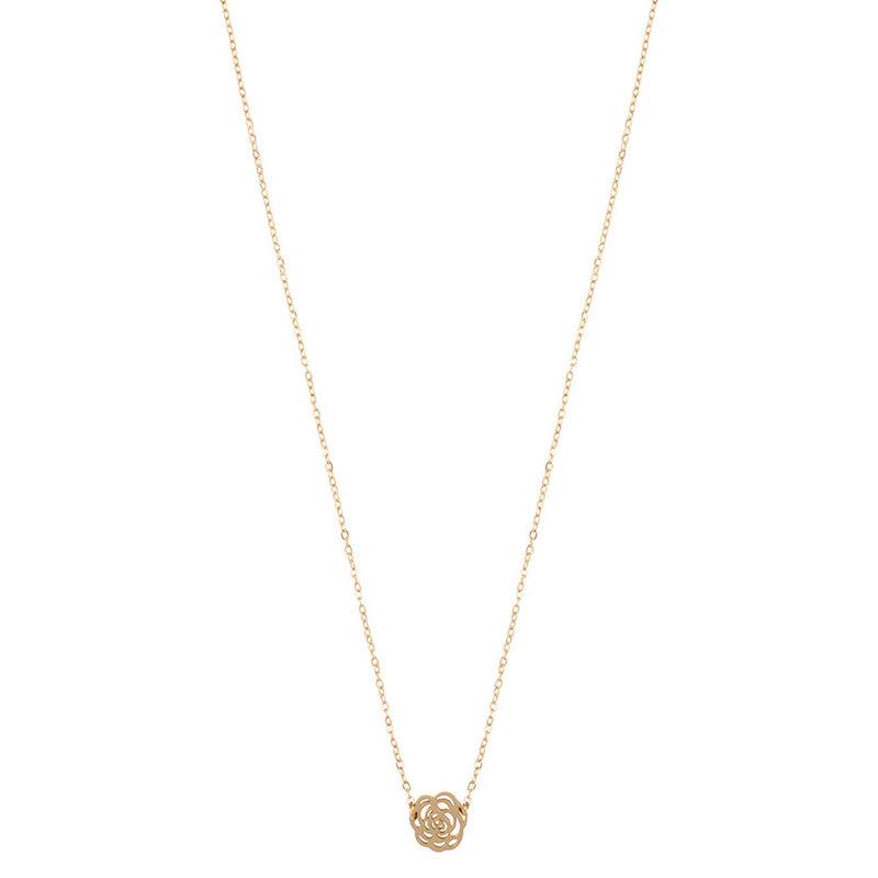 ZAG Bijoux  ZAG Bijoux Rose Necklace - gold