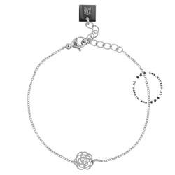 ZAG Bijoux  ZAG Bijoux roos armband-zilver