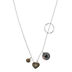 ZAG Bijoux  ZAG Bijoux Double Love Necklace - Silver