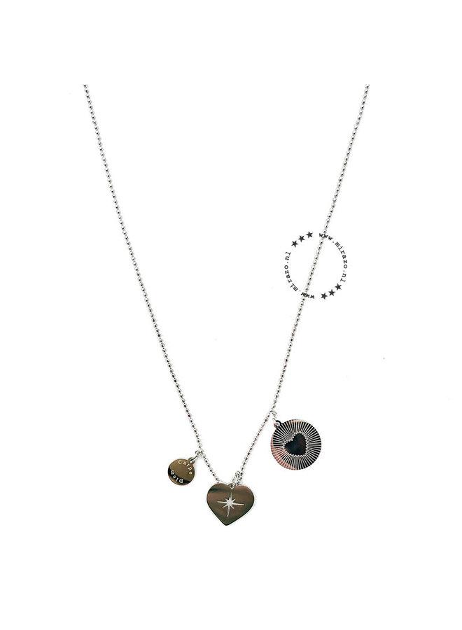 ZAG Bijoux Double Love Necklace - Silver