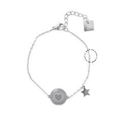 ZAG Bijoux  ZAG Bijoux Heart & Star armband-zilver
