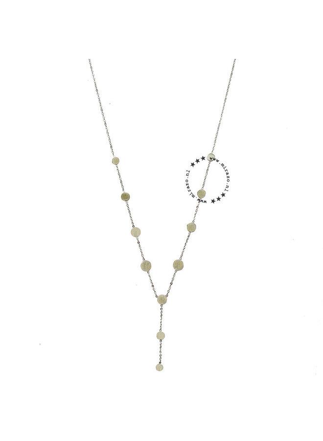 ZAG Bijoux ketting- chique coins - Silver