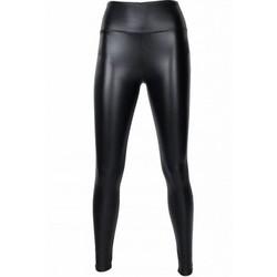 leer look legging- zwart