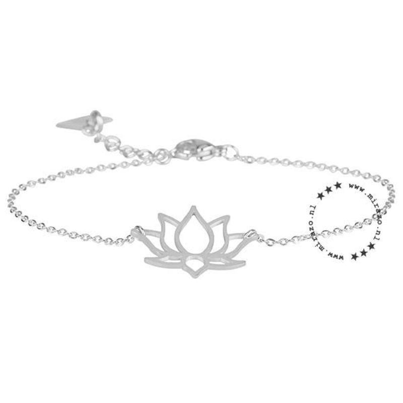 ZAG Bijoux jewellery  ZAG armband lotus bloem zilver