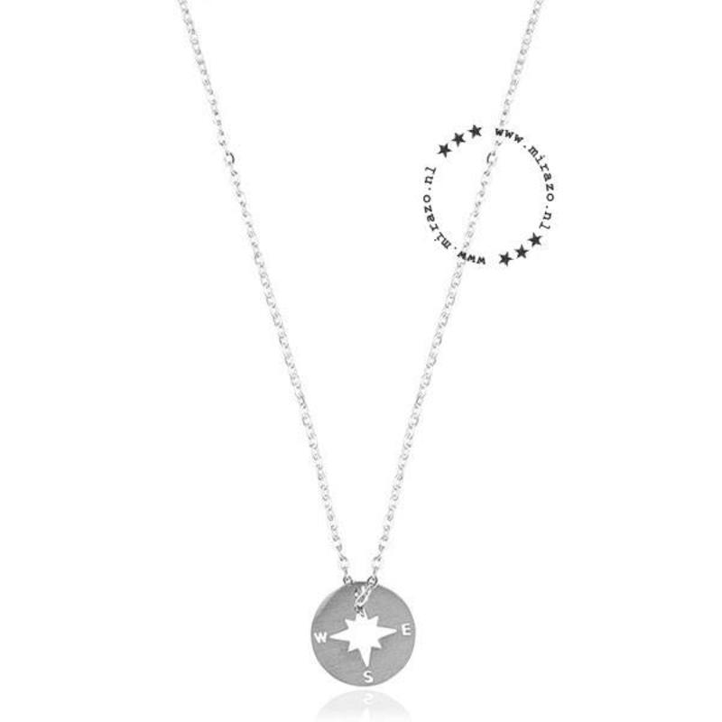 ZAG Bijoux jewellery ZAG ketting kompas rond zilver