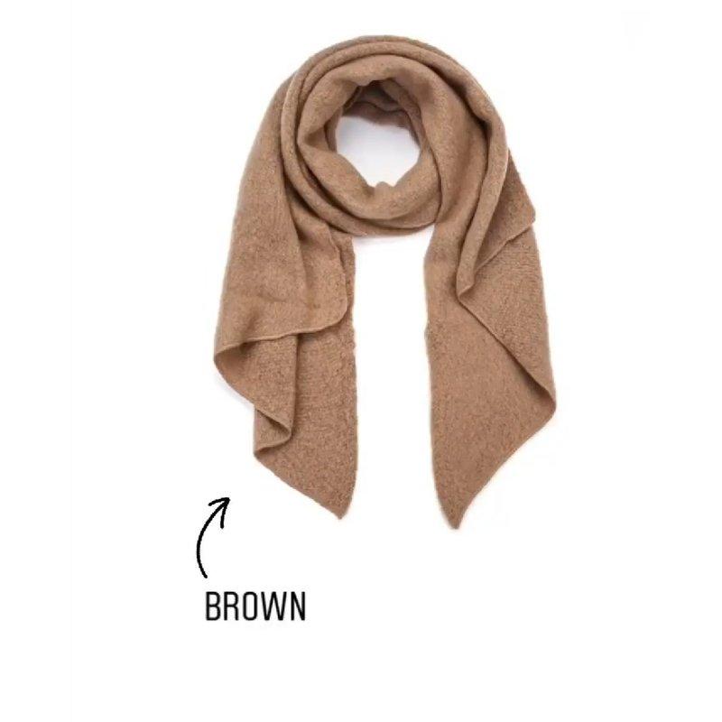 Winter zachte sjaal - Brown