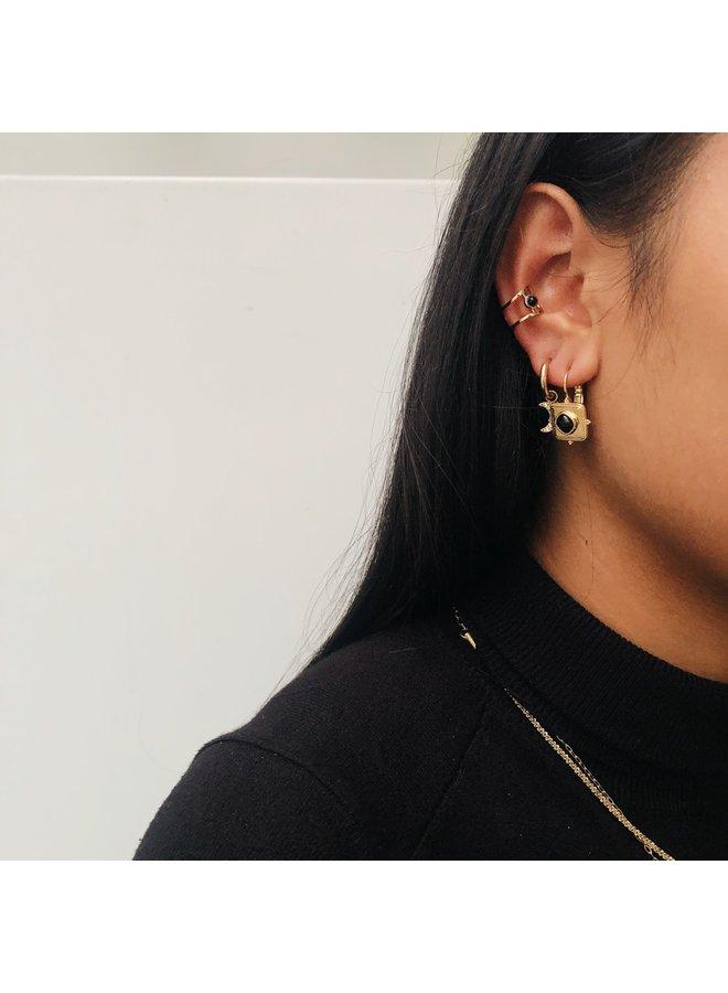 ZAG Bijoux Black Ear Cuff oorbel  -  Goud