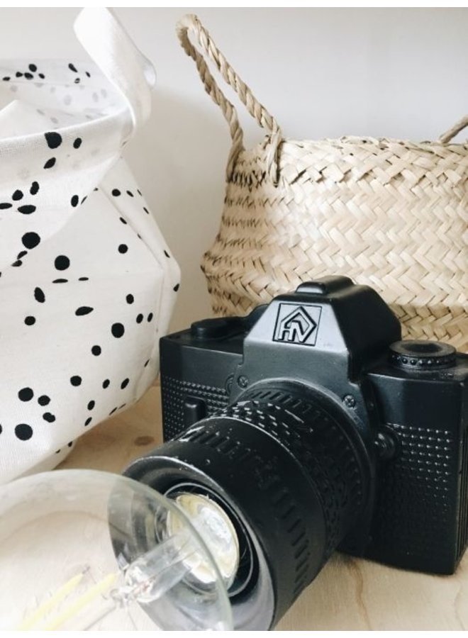 Housevitamin tafellamp camera-zwart