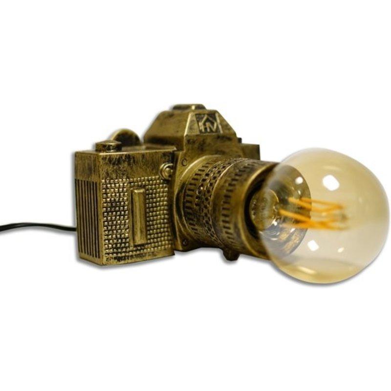 housevitamin Housevitamin tafellamp camera-goud
