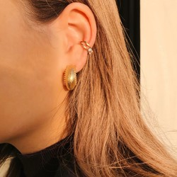 ZAG Bijoux  ZAG Bijoux  Ear Cuff  strass oorbel  -  Goud