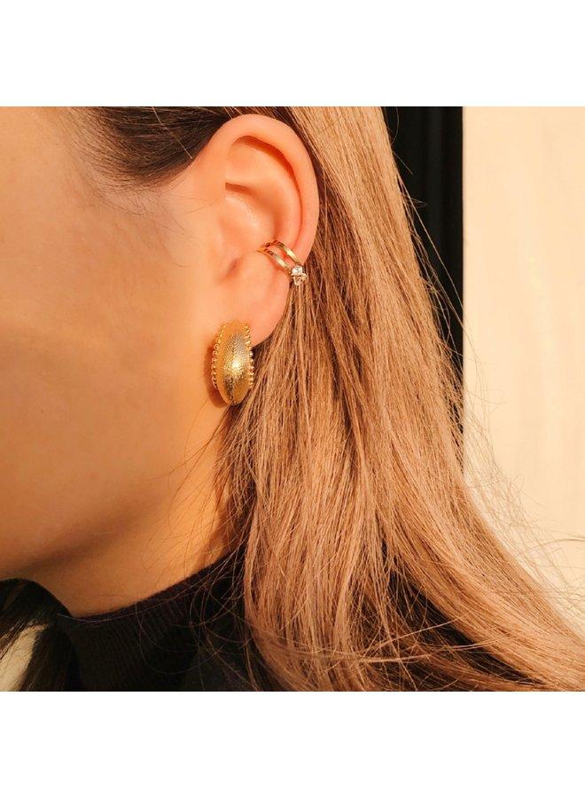 ZAG Bijoux  Ear Cuff  strass oorbel  -  Goud