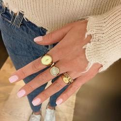 ZAG Bijoux  ZAG  Bijoux  zegel ring maat 55 -goud