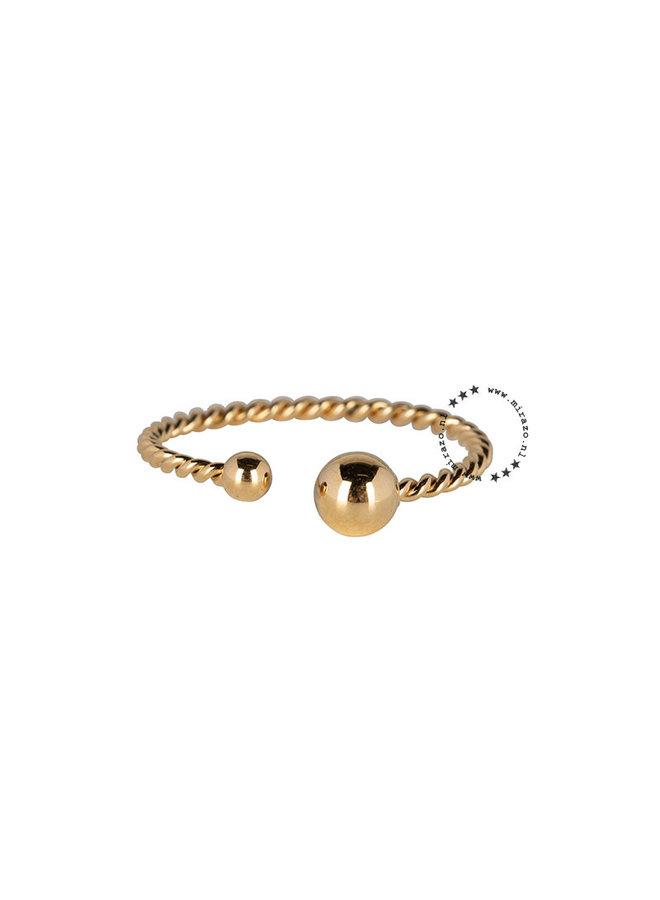 ZAG Bijoux ring met bolletjes - Goud