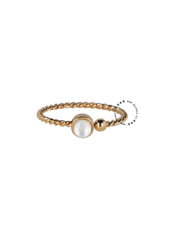 ZAG  Bijoux  gedraaide ring-goud