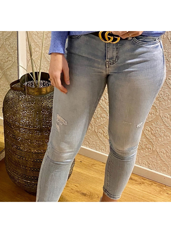 Queen hearts jeans - Skinny Jeans Bleach Wash