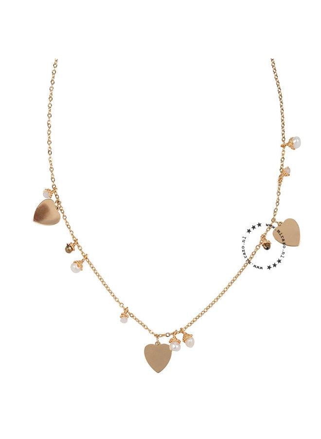 ZAG Bijoux ketting triple love - goud