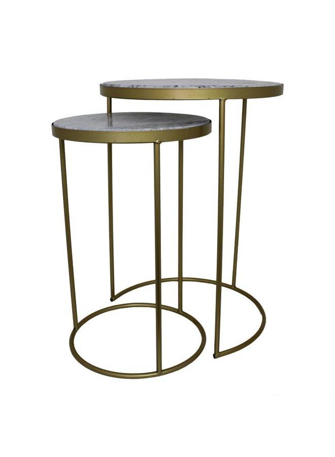 Housevitamin gouden marmer tafel-set van 2