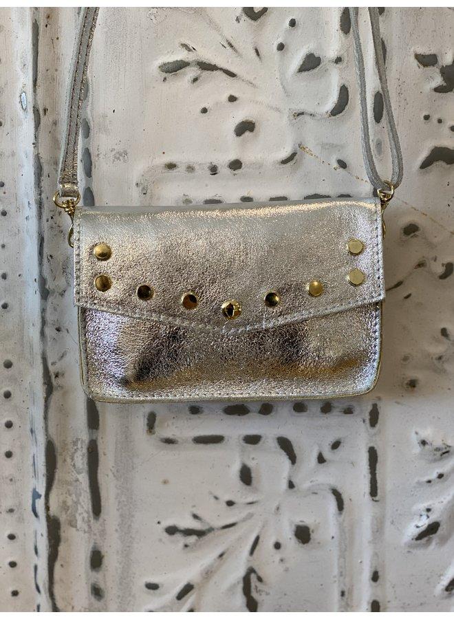 Metallic schoulder bag- silver