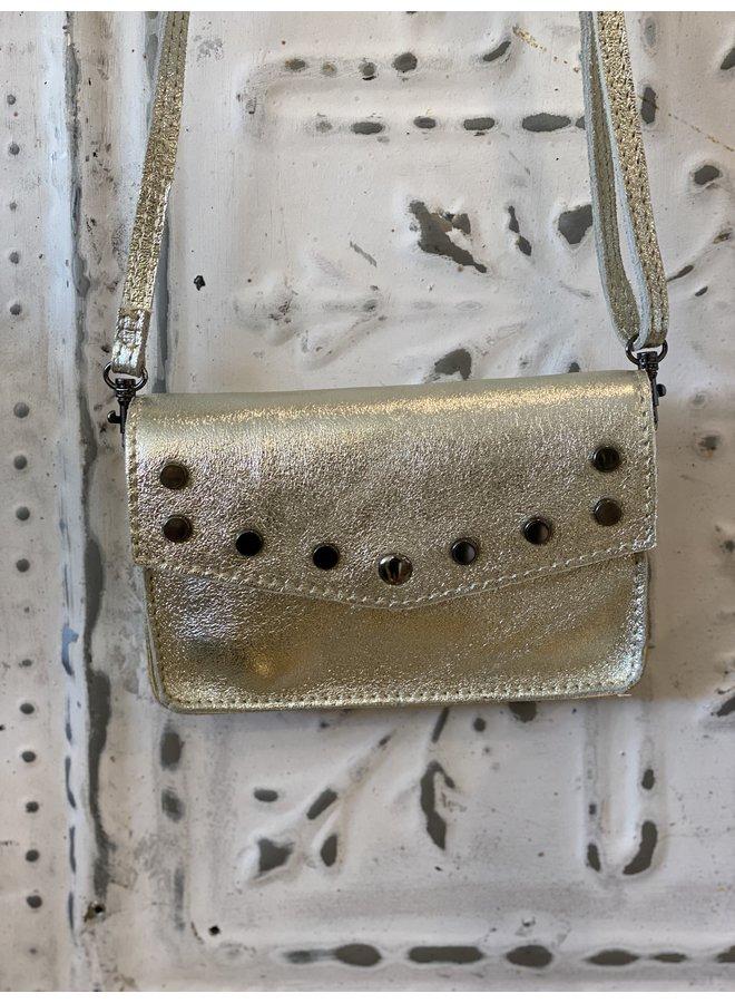 Metallic schoulder bag- gold