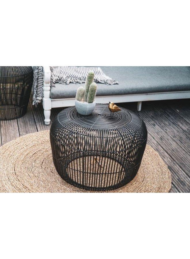 Housevitamin  rotan table 60cm zwart
