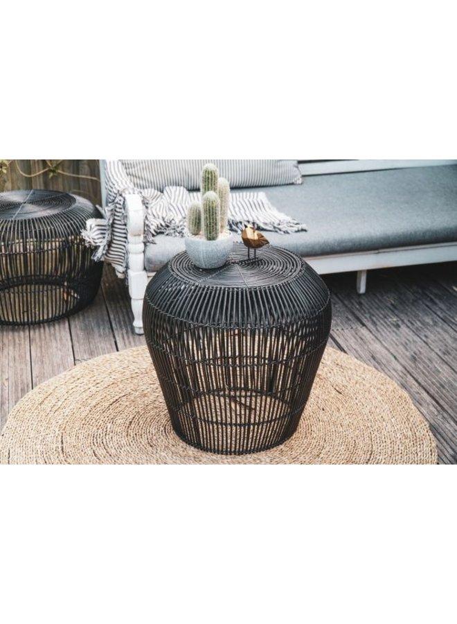 Housevitamin  rotan table 40cm zwart